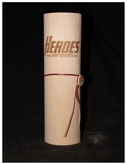 Heroes Collectible Wooden Cylinder